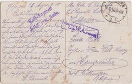 CP (Kaiser Wilhem) Obl Wiesbaden 1n Le 16/2/18 Pour Hangweiler + Detl-Lazarett Hotel Zum Hahn + Censure Sarreburg - Deutschland