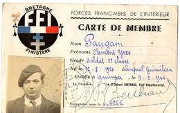1946   Carte F.F.I BRETAGNE  Finistère établie à Quimper - Postmark Collection (Covers)