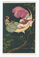 Corbella Couple Romantique Pierrot  Lune CPSM Ed Degami  Ecrite - Corbella, T.