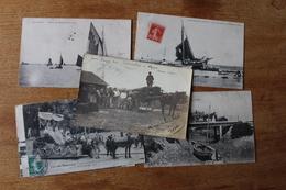 7 Cpa  Charente Bourcefranc, Chapus  Marennes Dont Belle Carte Photo Identifiée - France