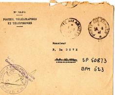 1947 Postes Et Télégraphes SP 50873 BPM 523 - Poststempel (Briefe)