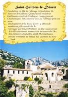 34 Saint Guilhem Le Désert Son Histoire (2 Scans) - Otros Municipios