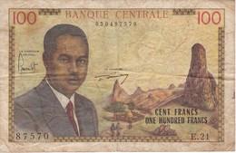 BILLETE DE CAMERUN DE 100 FRANCS DEL AÑO 1962 (BANKNOTE) - Kameroen