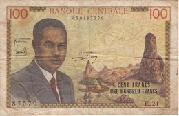BILLETE DE CAMERUN DE 100 FRANCS DEL AÑO 1962 (BANKNOTE) - Cameroun
