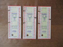 3 TICKETS PMU VINCENNES 10F-79-059 ET 060 - Billets De Loterie
