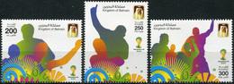 Bahrain 2014. FIFA World Cup 2014 - Brazil (MNH OG) Set Of 3 Stamps - Bahrein (1965-...)