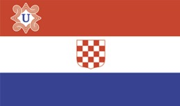 Bandera Croacia Ustacha. (NDH – Nezavisna Drzava Hrvatska). II Guerra Mundial. 1941-45 - Bandiere