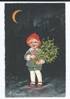 Colombo Enfant Sous La Lune Gui Bonne Année     CPSM     Ecrite - Colombo, E.