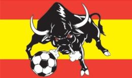Bandera Selección Nacional Española De Fútbol. España, Toro - Drapeaux