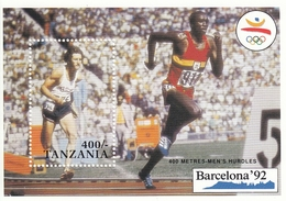 TANZANIA Block 137,unused - Summer 1992: Barcelona