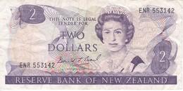 BILLETE DE NUEVA ZELANDA DE 2 DOLLARS DEL AÑO 1981-85 (BIRD-PAJARO) (BANKNOTE) - Neuseeland