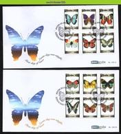 Nfv183A+Bfb FAUNA VLINDERS BUTTERFLIES SCHMETTERLINGE MARIPOSAS PAPILLONS ARUBA 2013 FDC's - Butterflies