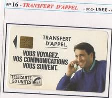 TELECARTE N°16 TRANSFERT D'APPEL USEE - France