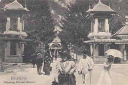 SWITZERLAND-SCHWEIZ-SUISSE-SVIZZERA-INTERLAKEN-HOHEWEG-KURSAL-EINGANG-CARTOLINA NON VIAGGIATA ANNO 1920-1920 - BE Berne