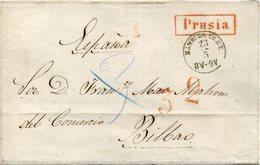 PREFILATELIA    Frontal De Prusia  A  Bilbao   1823  -  010 - ...-1850 Prefilatelia