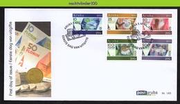 Nfv185fb  MUNTEN GELD UIL SLANG KIKKER VISSEN SCHELP OWL SNAKE FROG FISH SHELL COINS CURRENCY MONEY ARUBA 2013 FDC - Coins
