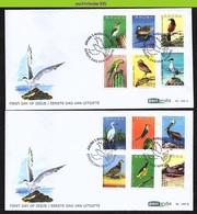 Nfv188A+Bfb FAUNA VOGELS UIL PATRIJS CACTUS PARROT PELICAN OWL DUCK PARTRIDGE BIRDS VÖGEL AVES OISEAUX ARUBA 2013 FDC's - Birds
