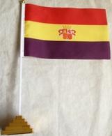 Banderín Bandera República Española. Guerra Civil. España. 1931-1939 - Drapeaux