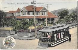HONOLULU (Etats Unis D'Amérique) Residence Wilder Avenue Tramway électrique - Honolulu