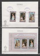 Penrhyn 1977 Queen Elizabeth II Silver Jubilee Set Of 3 + S/s On 2 FDC - Case Reali