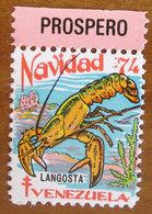1974 VENEZUELA Navidad Natale Fish Langosta Campagna ANTI TBC Cindarella Vignetta Erinnofilo - Nuovo - Venezuela