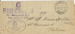 FRANCHIGIA POSTA MILITARE M SEZ A CONC MESSINA 1941 AEROPORTO 513 MARSALA - 1900-44 Victor Emmanuel III.