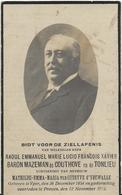 DP. RAOUL BARON MAZEMAN DE COUTHOVE EN DE TONLIEU ° YPER 1854- + PROVEN 1923 -BURGEMEESTER TE PROVEN - Religion &  Esoterik