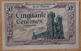 Châlon, Reims, Epernay  ( 51 - Marne ) 50 Centimes Chambre De Commerce 10 Octobre 1922 - Chambre De Commerce