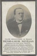 DP. HENRI NEVEJAN ° POELCAPELLE 1844- + 1911 - GEWEZEN SCHEPEN LANGEMARCK - BURGEMEESTER POELCAPELLE - Religion &  Esoterik