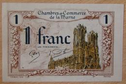 Châlon, Reims, Epernay  ( 51 - Marne ) 1 Franc Chambre De Commerce 10 Octobre 1922 - Chambre De Commerce