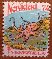 1974 VENEZUELA Navidad Natale Fish Pulpo Campagna ANTI TBC Cindarella Vignetta Erinnofilo - Nuovo - Venezuela
