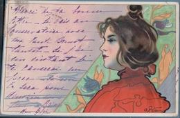 Femme De Profil Art Nouveau (1902) - Illustrators & Photographers