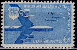 United States, 1957, Airmail, 50th Anniv. Air Force-B52, 6c, Sc#C55, MNH - Air Mail
