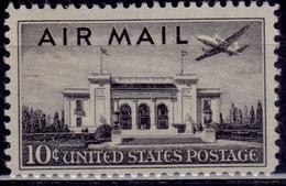 United States, 1947, Airmail, Pan American Union Bldg-Washington, 10c, Sc#C34, MNH - 2b. 1941-1960 Ungebraucht