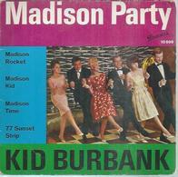 """45 Tours EP - KID BURBANK   - BRUNSWICK 10899  -  """" MADISON ROCKET """" + 3  ( ALLEMAGNE ) - Autres - Musique Anglaise"""