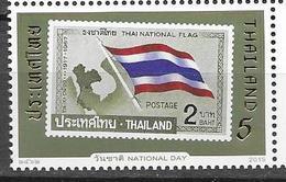 THAILAND, 2019, MNH,NATIONAL DAY, FLAGS, STAMP ON STAMP, 1v - Postzegels