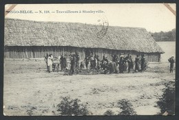 +++ CPA - Afrique - Congo Belge - Travailleurs à STANLEYVILLE   // - Belgisch-Congo - Varia