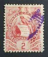 1900 Coat Of Arms, 2c, Guatemala, Used - Guatemala