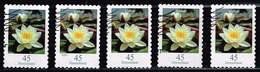 Bund 2018,Michel# 3376 O Blumen: Seerose, Selbstklebend - [7] Federal Republic