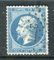 Superbe N° 22 Cachet PC 2771 Le Sacquenay - 1862 Napoleon III