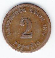 Deutsches Reich - 2 Pfennig 1874 A - 1875 A - B - C - D - E - F - G - J - [ 4] 1933-1945 : Third Reich