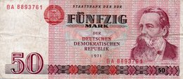 GERMANY-DEMOCRATIC REP. 50 MARK 1971 **CIRC.   P-30a - [ 6] 1949-1990 : GDR - German Dem. Rep.