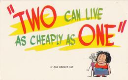 Comics Humor Comic Comique Humour - Eating - Money - Unused - VG Condition - 2 Scans - Humour