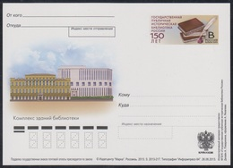 245 RUSSIA 2013 ENTIER POSTCARD Os 217 Mint MOSCOW STATE LIBRARY BIBLIOTHEQUE BIBLIOTHEK BOOK LIVRE BUCH PSo - Ganzsachen