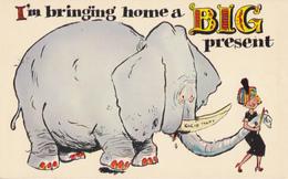 Comics Humor Comic Comique Humour - Elephant - Big - Unused - VG Condition - 2 Scans - Humour