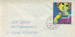 Haderslev Kind Mit Vogel Rotschwanz 1986 - Denmark