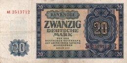 GERMANY-DEMOCRATIC REP. 20 MARK 1955 **CIRC.   P-19a - 20 Deutsche Mark