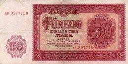 GERMANY-DEMOCRATIC REP. 50 DEUTSCHE MARK 1948 **CIRC.   P-20a - [ 6] 1949-1990 : RDA - Rep. Dem. Alemana
