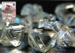 Hollande Nederland 2008  Antverpia 2010 Le Diamant Maxicard Carte Maximum - Minéraux