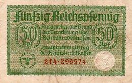 GERMANY-. 50 REICHSFENNIG 1940 **CIRC.   P-R135 - Otros